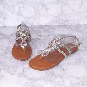 Universal Thread   Gold & Silver Braided Sandals